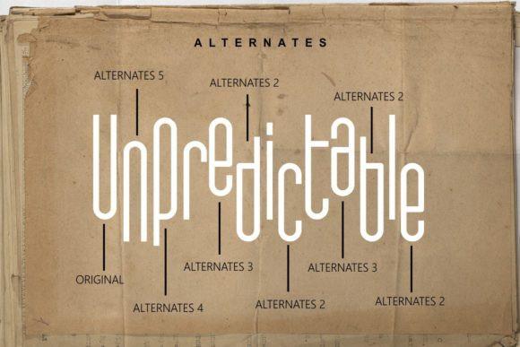 Unpredictable Font