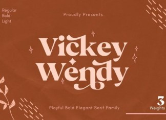 Vickey Wendy Font