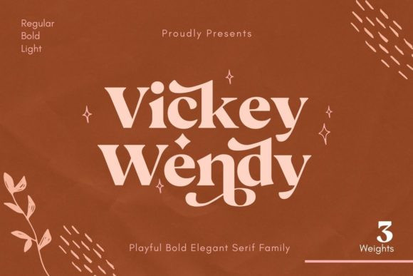 Vickey Wendy Font