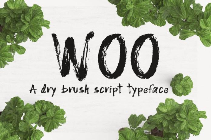 WOO  Font