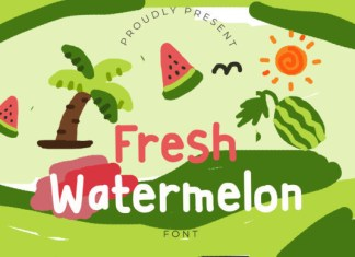 Fresh Watermelon Font