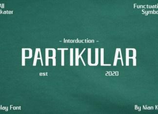 Partikular Font