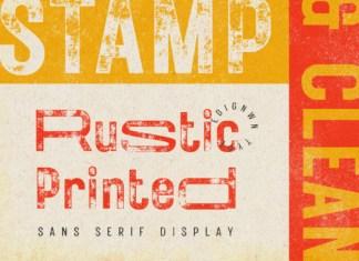 Rustic Printed Font