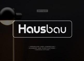Hausbau Font