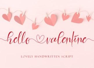 Hello Valentine Font