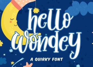 Hello Wondey Font