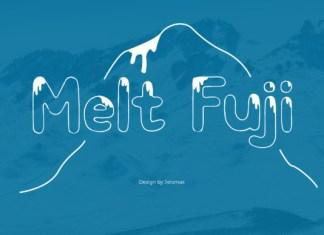 Melt Fuji Font