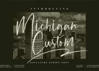 Michigan Custom Font