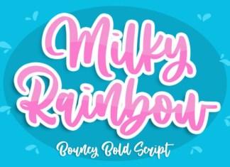 Milky Rainbow Font