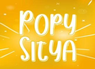 Popy Sitya Font
