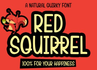 Red Squirrel Font