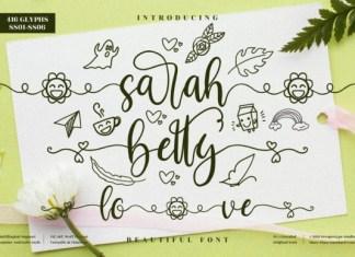 SarahBetty Font