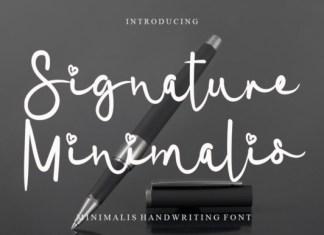 Signature Minimalis Font