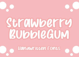 Strawberry Bubblegum Font