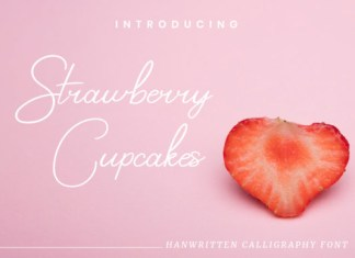 Strawberry Cupcakes Font