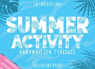 Summer Activity Font