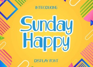 Sunday Happy Font