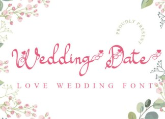 Wedding Date Font