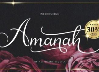 Amanah Font