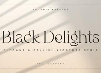 Black Delights Font