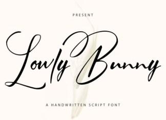 Lowly Bunny Font