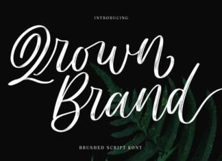 Qrown Brand Font