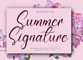 Summer Signature Font