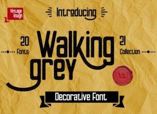 Walking Grey Font