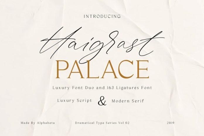 Haigrast Palace Font