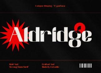Aldridge Font