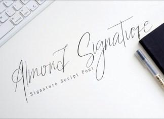 Almond Signature Font