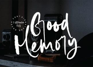 Good Memory Font