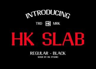 HK Slab Font