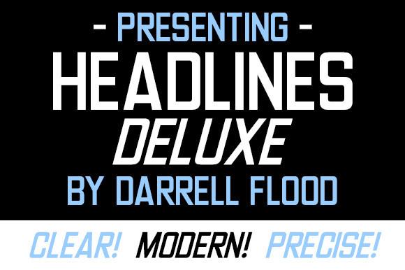 Headlines Deluxe Font