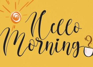 Hello Morning Font