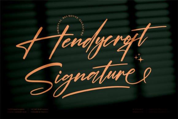 Hendycroft Signature Font