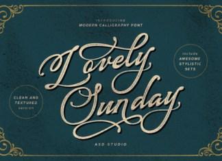 Lovely Sunday Font