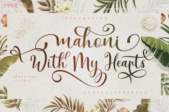 Mahoni with My Hearts Font
