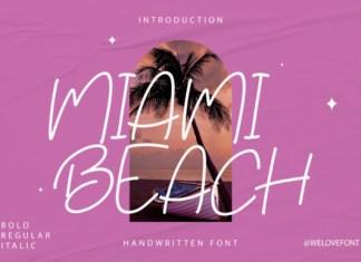 Miami Beach Font