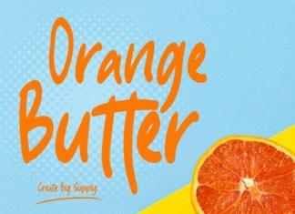 Orange Butter Font