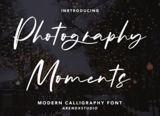 Photography Moments Font