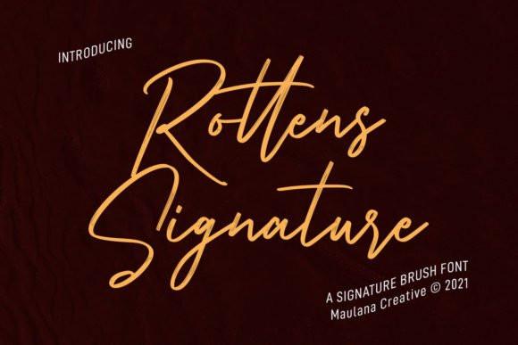Rottens Signature Font