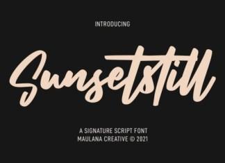 Sunsetstill Font