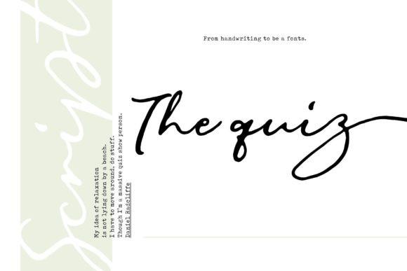 The Quiz Font