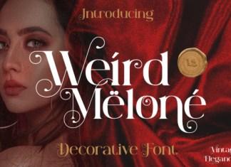 Weird Melone Font