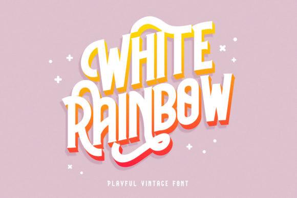 White Rainbow Font