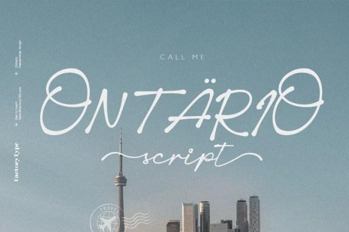 Ontario Script Font