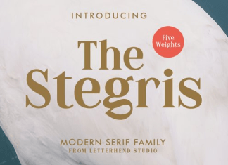 The Stegris Font