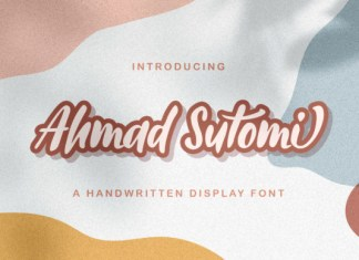 Ahmad Sutomi Font