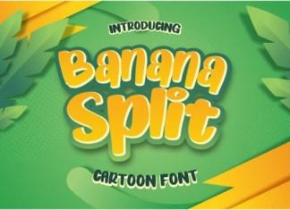 Banana Split Cartoon Font